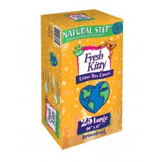 Fresh Kitty™ 25ct Natural Step Drawstring Litter Box Large Liners